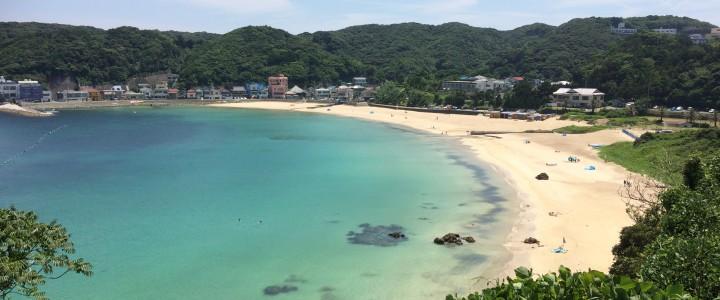 下田荘は、海まで徒歩2分♪23日は白浜で花火大会です。
